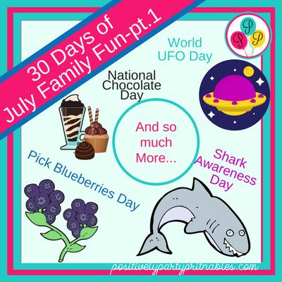 July Family Fun Ideas! part 1