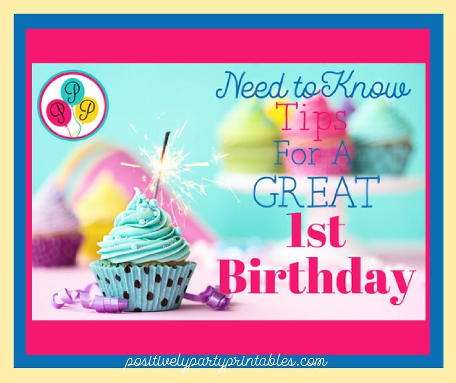 !st Birthday Planning Tips
