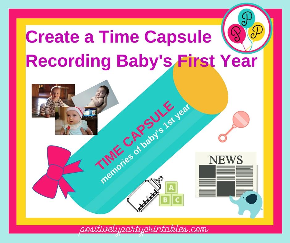 baby's 1st birthday time capsule