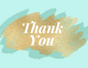 Free Thank You printable card