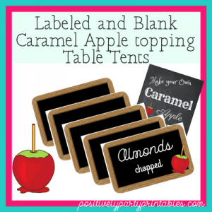 Caramel Apple Table tents