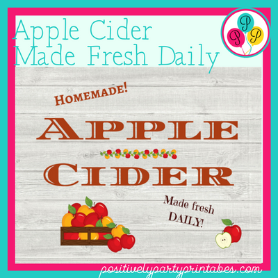Heart-Warming, Sweet smelling Apple Cider recipes and printable.