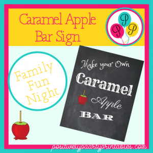 Caramel Apple Sign