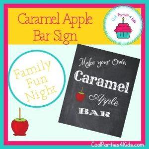 DIY Caramel Apple Bar