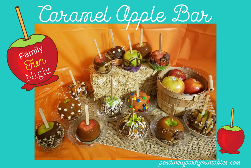 Family Night Caramel Apple Bar