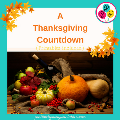 A Thanksgiving Countdown-Include the Kids!