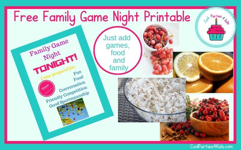 Free Family Game Night Printable