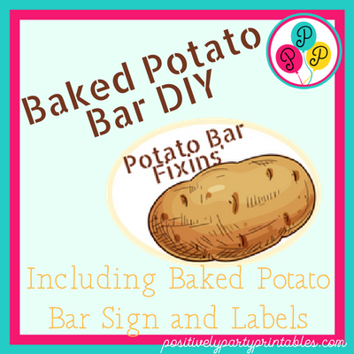 Fun and Easy-Baked Potato Bar
