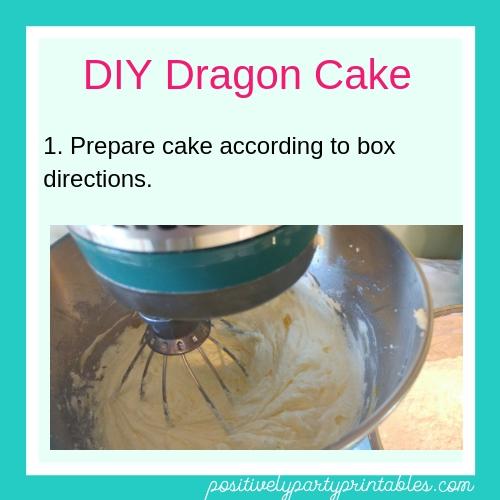 DIY Dragon Cake