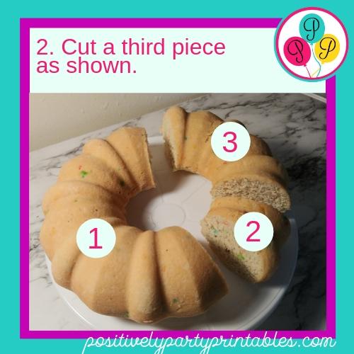DIY Drafon cake step 2