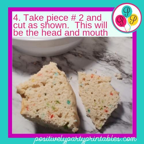 DIY Dragon Cake step 4