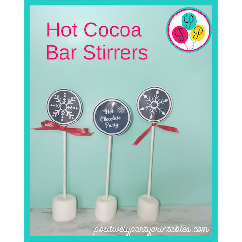 Hot cocoa bar stirrers