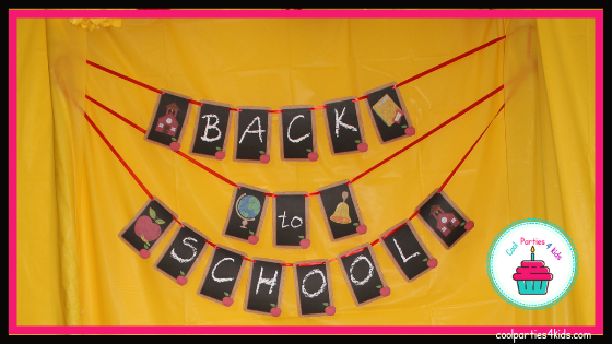 back to school party banner-coolparties4kids.com