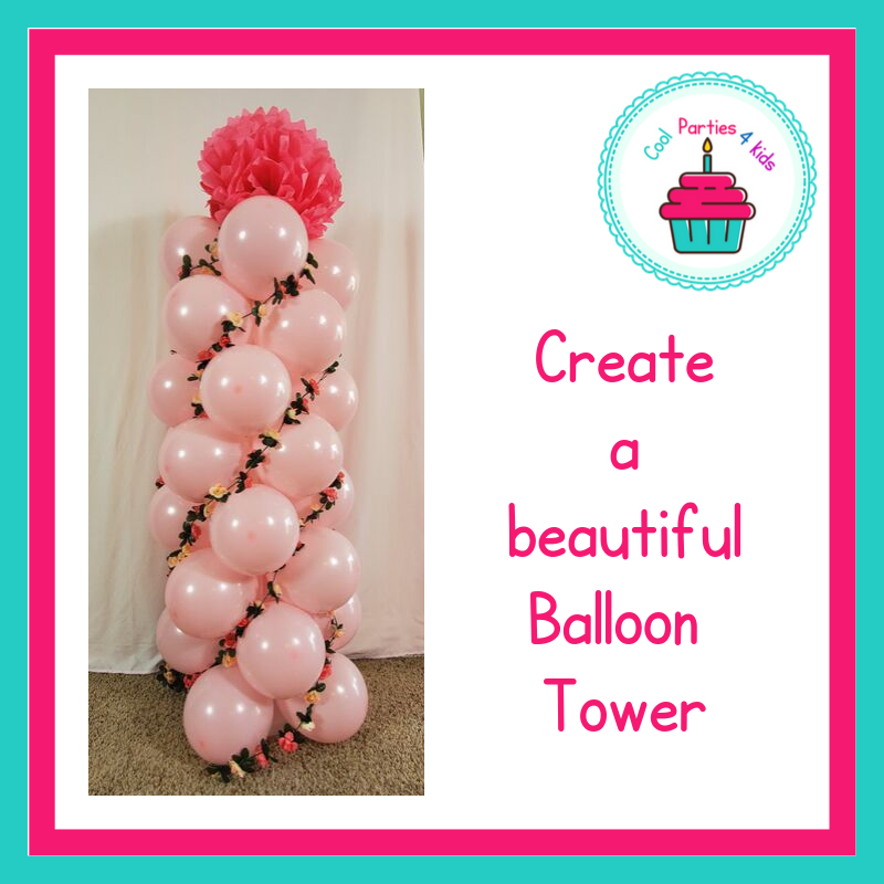 Ballerina Party Balloon Tower