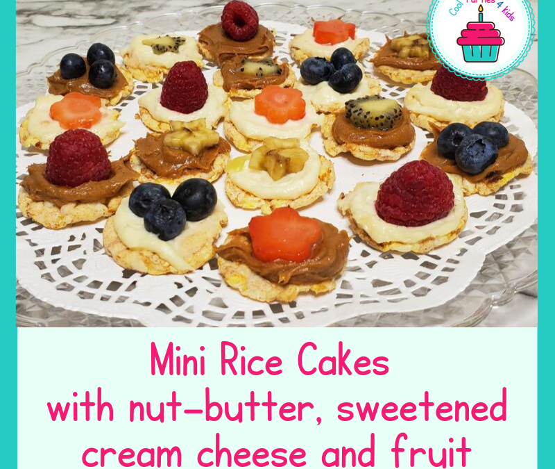 The Best Fun and Colorful Gluten Free Mini Rice Cakes for kids and more
