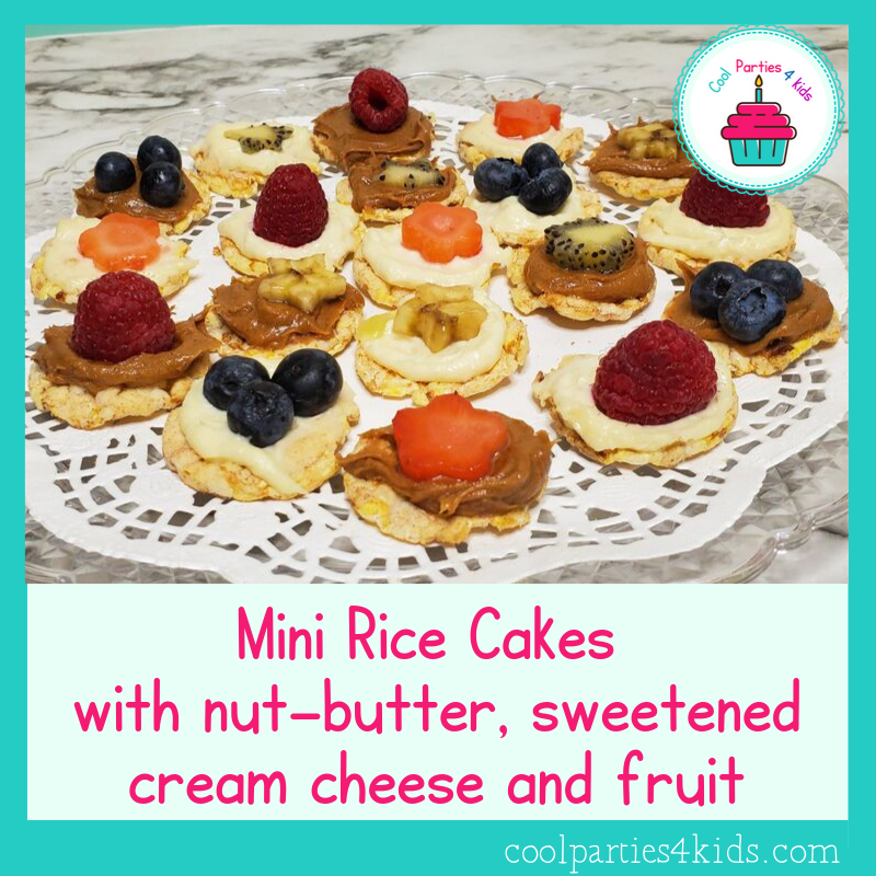 gluten-free treat-mini rice cakes with fruit