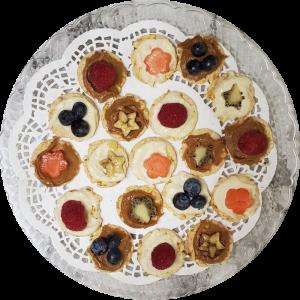 Gluten Free-mini rice cakes with fruit