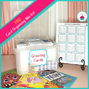 Free Greeting Card Organizer