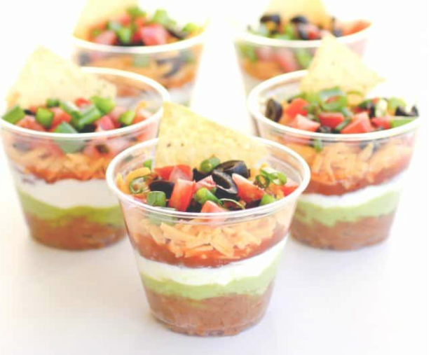 Father's Day Individual 7-Layer Dip